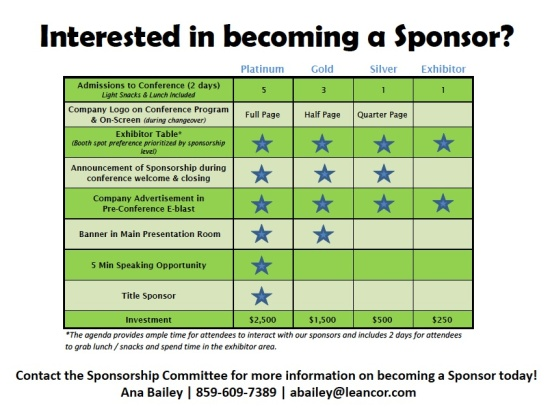 Sponsor & Exhibitor Table 2015 copy